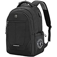 Laptop Backpack, Large Business Bags with USB Charging Port, Water Resistant College School Rucksack Travel Daypacks Fits up to 15.6-17.3 Inch Laptop and Notebook - Gray