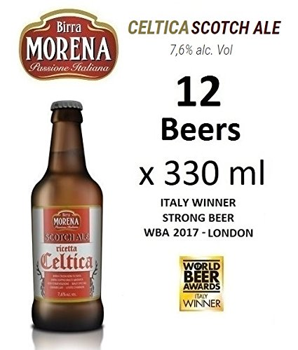 12 X Birra Morena Scotch Ale 7,6 % alc vol - ml 330 - Strong - Yeast abbey -Artigianale - Craft Beer - Italian Beer - Award - Best Gift Events Christmas Easter