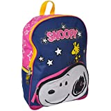 Peanuts Snoopy Front Pocket with Woodstuck Kids 16 School Backpack Bag by Peanuts