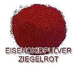 Eisenoxid Pulver Pigmentpulver Farbpigmente für Beton Lehm Keramik | Betonfarbe Bodenfarbe färben abtönen Abtönung - Ziegelrot ROT 5KG