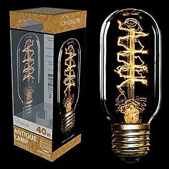 En cristal Culot à vis Edison E27 40 W T45 Ampoule spirale vintage avec Filament
