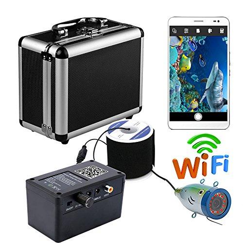 H&L HD WiFi Wireless Underwater Fishing Camera Video Recorder Für IOS Android APP unterstützt Video-Aufzeichnung und Aufnahme Foto mit 12 Stück IR-Leuchten,20M