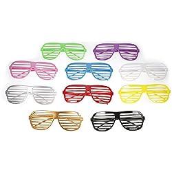 JZK 12 x Moda el plastico persianas gafas presentación graciosa gafas sol popular gafas club accesorios para fiestas cumpleaños boda selfie