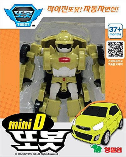 Poli Robot (Tobot Mini D - Transformer Robot Figure Die-cast Toy)