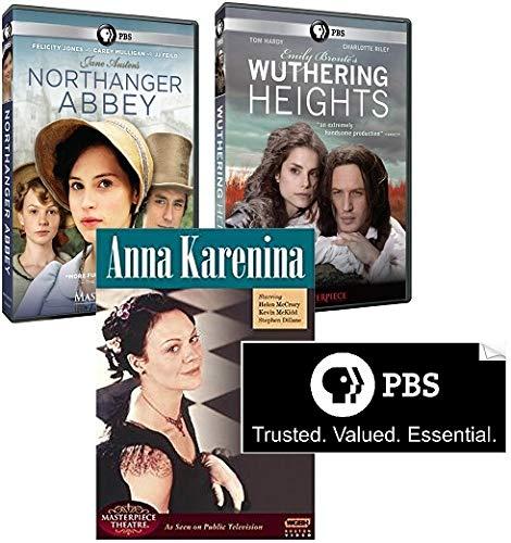 Masterpiece: Love Ascollection - Northanger Abbey, Wuthering Heights, Anna Karenina + Bonus PBS Aufkleber