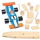 Rennwagen-Bastelsets aus Holz für Kinder zum Basteln und Dekorieren als