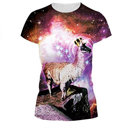 MILEEO Damen Basic T-shirt Skull Schädel Shirt mit Rundhals Klassisch Rundhalsshirt Kurzarm Tops Stil 21