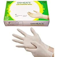 ONSAFE Latex Medical Examination Disposable Powdered Hand Gloves -100 Pieces Each Pack (Large) (Small, Pack of 1)