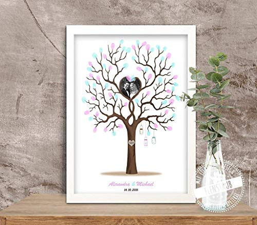 edding-tree mit Foto, Hochzeitsbaum als Gästebuch-Alternative für Hochzeit ()
