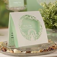 VStoy elegante Laser carte Inviti di nozze Cut Festa di fidanzamento sposa Doccia Inviti (20pcs)