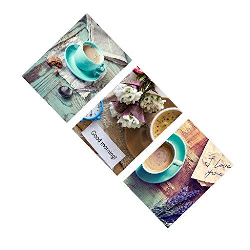 MagiDeal Set di 3pz Stampe Quadri su Tela Arte Pittura Immagine Arredamento per Parete Casa Decorazione - #2, 40 * 40cm