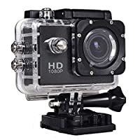 SJ4000 1080p FullHD 12MP CMOS H.264 Sports Action Camera with Accessories - Black