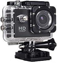 Qrios SJ4000 1080p Full HD Flash Memory Action Sports DV Camera - 4x Optical Zoom, Black