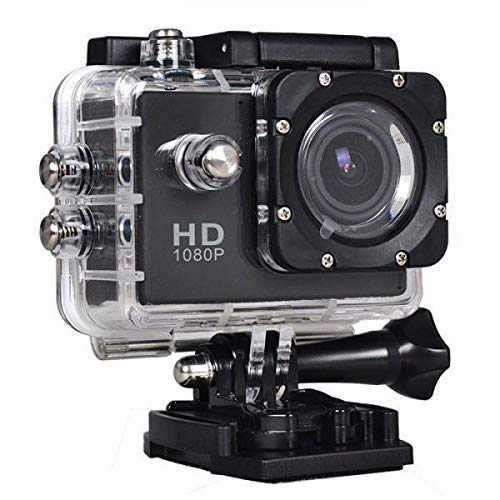 Callie 1080 Action Camera, Dual 2 Inch LCD Screen 16 MP Image Sensor 170 Wide-Angle Lens Sports Camera 100 FT Waterproof Case Included in Accessories