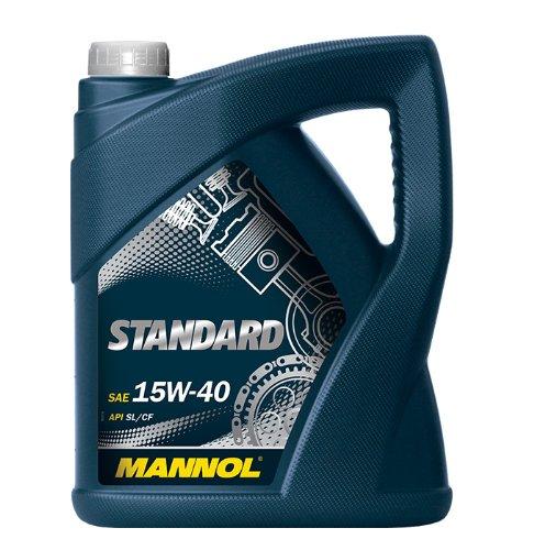 MANNOL Standard 15W-40 API SL/CF Motorenöl, 5 Liter