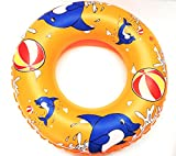KriTech Inflatable Swim Ring - Blow Up Floating Tube Raft Tube for Swimming Pool Beach for Age 3-10 years - 50cm
