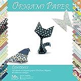 Origami Papier Set – 120 Blätter – Traditionelles japanisches Faltblatt mit 40 Mustern, Blumen, Tieren, Azteken, geometrischen – Basteln Sie Blumen, Kraniche, Eulen, Drachen