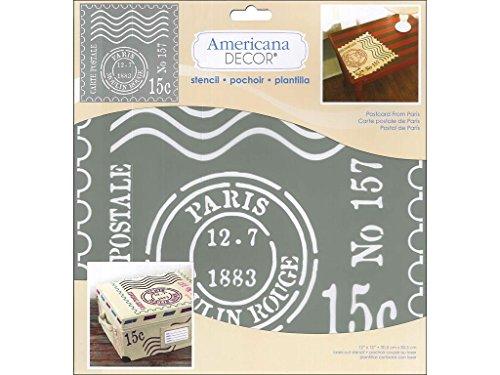 Deco Art Americana Decor Schablone Postkarte fromparis (Americana-dekor Farbe)