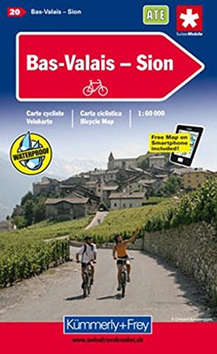 KuF Schweiz Radkarte 20 Bas-Valais - Sion 1 : 60.000