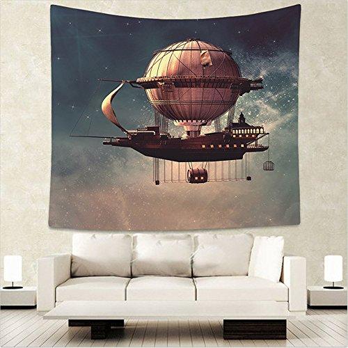 AdoraTapestry arazzo Tapestry telo mare tappeto Wall Hanging Table Cloth telo divano arazzi da parete yoga mat Universo astronave 150x130cm