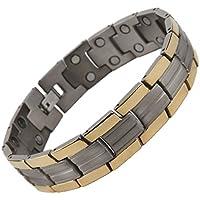 North South TD7Titan Gold und Silber zweireihig magnetisch Link Armband mit luxuriöser Geschenkbox Demontagewerkzeug. preisvergleich bei billige-tabletten.eu