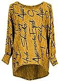 Emma & Giovanni - Pullover/Sweatshirt Oversize- Damen (M/L, Ocker)