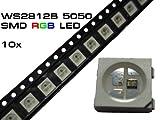 10 Stück WS2812B LED RGB SMD 5050 mit WS2811 Controller