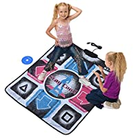 Kafuty Non-Slip Durable Wear-resistant Dancing Step Dance Mat Pad Dancer Blanket with USB for PC with Highly Sensitive Chip, and Adopt PVC Material etc