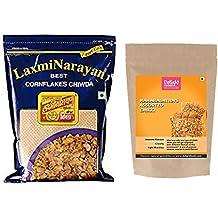 Laxminarayan Cornflakes Chiwda-500g and Maharashtra Assorted Chikki-200g
