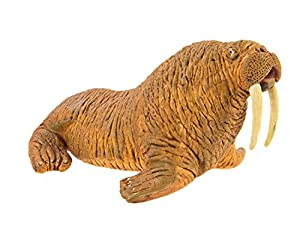 Safari Ltd Wild Safari Sea Life – Walrus – Realistic Hand Painted Toy Figurine Model – Quality Construction from Safe and BPA Free Materials – For Ages 3 and Up