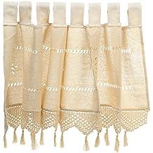 LOVIVER Hollow Crochet Window Valance Panel Curtian Blackout Wink Ventana Corta para La Decoración del Hogar
