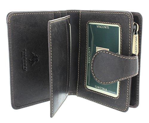 Visconti Geldbörse BOW, geöltes Leder 715 Braun (Damen-geldbörse Bow)