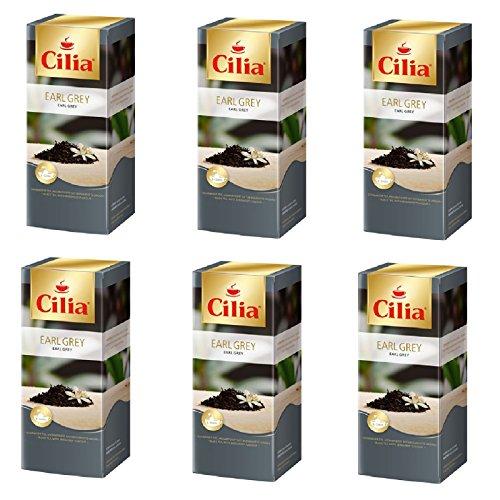 Melitta Schwarzer Tee (Melitta Cilia Earl Grey Schwarzer Tee 6 Packungen je 25 x 1,75g Teebeutel)