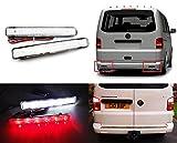 2x Clear Lens Stoßstange hinten Reflektor LED Schwanz Stop Licht Rückseite Lampe für 2003-11Transporter T5Caravelle Multivan