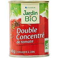 Jardin Bio Double Concentré de Tomate Boîte 140 g - Lot de 8