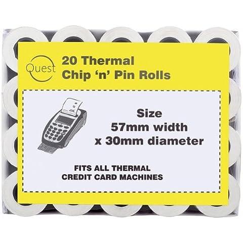 Quest termica 20 Chip 'n'Pin ricevimento rotoli da 57 x 30 mm