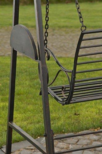 CLP 2 Sitzer / 3 Sitzer Garten Hollywoodschaukel AIMEE, Landhaus-Stil, Metall (Eisen) bronze - 5