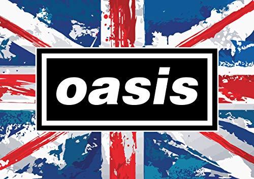 A1 Large Oasis 90s Britpop Union Flag Poster