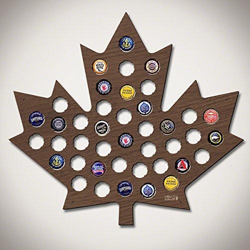 Wand Herren Dekor (Maple Leaf Bier Gap Karte Walnuss Fleck Flasche GAP Halter Cool Weihnachten Geschenke für Herren 39x)