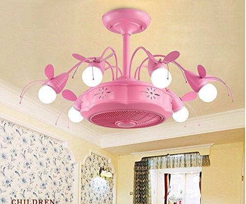 PinWei@ Camerette lampada soffitto, velivolo di modellazione del ventilatore,Rosa: 90