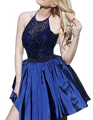 Bridal_Mall - Robe de mariage - Trapèze - Sans Manche - Femme Bleu