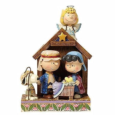 Jim Shore Peanuts Christmas Pageant Figurine Sculpture by Jim Shore for Enesco