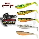 Fox Rage Zander Pro Shads Mixed Colour, 5 verschiedene Farben im Set, Gummifische, Gummiköder für Zander, Hechtköder, Zanderköder, Barschköder, Forellenköder, Länge:10cm