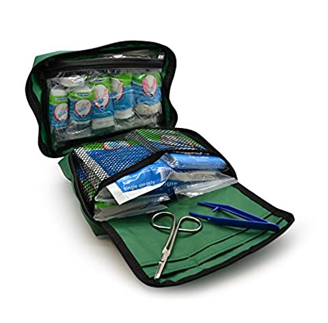 90 Piece Premium First Aid Kit Bag - Includes Eyewash, 2 x Cold (Ice) Packs and Emergency Blanket for Home, Office, Car,Workplace,