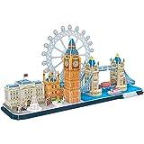 Cubicfun Cityline Serie Bau-Spielzeug, 3d-Puzzle Geschenk für Kinder und Erwachsene