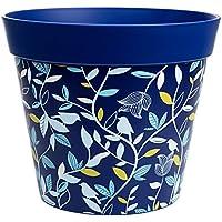 Macetas Hum, macetas de pájaros azules y ramas, jardineras de exterior/interior