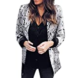 Hanomes Damen pullover, Damen Print Anzug Herbst Winter Langarm Mantel Mode Anzüge