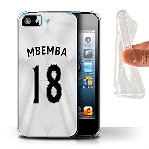 Offiziell Newcastle United FC Hülle / Gel TPU Case für Apple iPhone SE / Pack 29pcs Muster / NUFC Trikot Away 15/16 Kollektion Mbemba