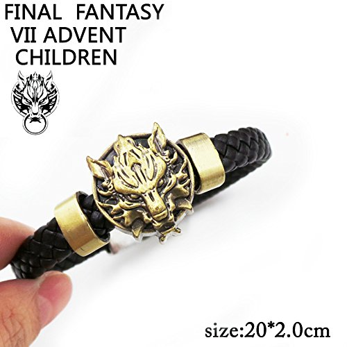 SUNKEE Final Fantasy VII Cosplay Cloud Strife Ciondolo in Oro Polsino Braccialetto Figura Del Giocat