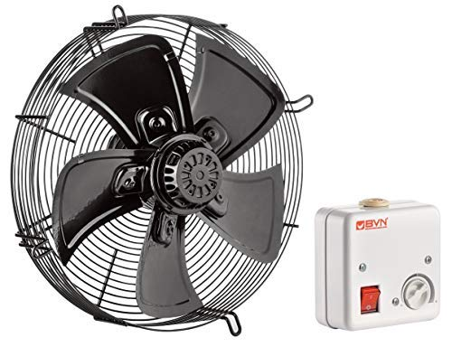 Gebläse Ventilator Lüfter 4M450-B-AC Kühlzellen Verdampfer Kühlaggregat 450mm 4800m³/h inklusive Drehzahlregler - Ac-gebläse-ventilator